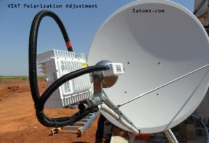 Satellite VSAT skew adjustments
