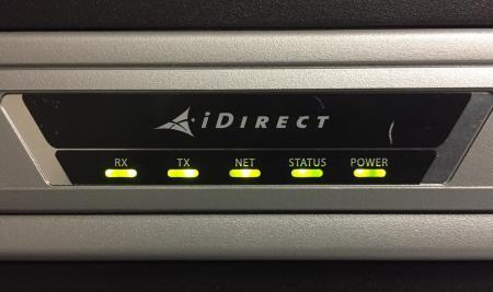 iDirect VSAT Modem Flashing NET Light